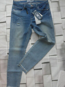 Jeans-Pants-Blue-Size-33-32-with-Cracks-789