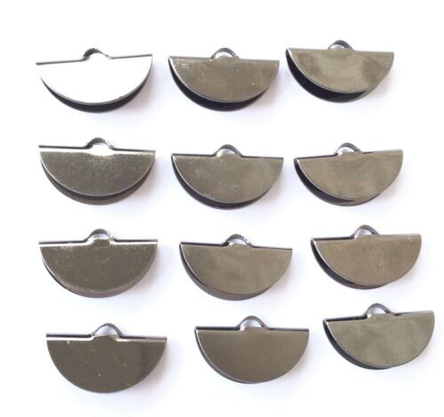 12 Smooth Gunmetal Pinch Ribbon Round Crimp End Findings Jewelry Supplies