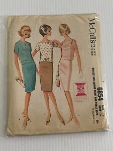 Vintage-6854-Mccall-039-s-Estampado-Diseno-Patron-de-Costura-Talla-16-Jr-amp-Misses