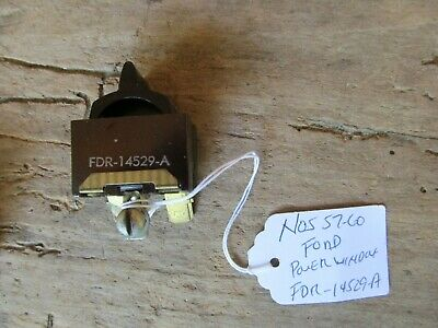 NOS POWER WINDOW SWITCH FDR-14529-A FORD 1957 1958 1959 ...