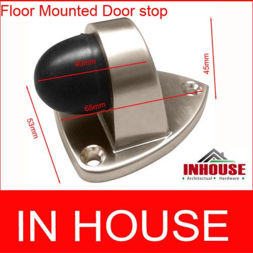 Satin 6446 -Chrome Floor Mounted door stops