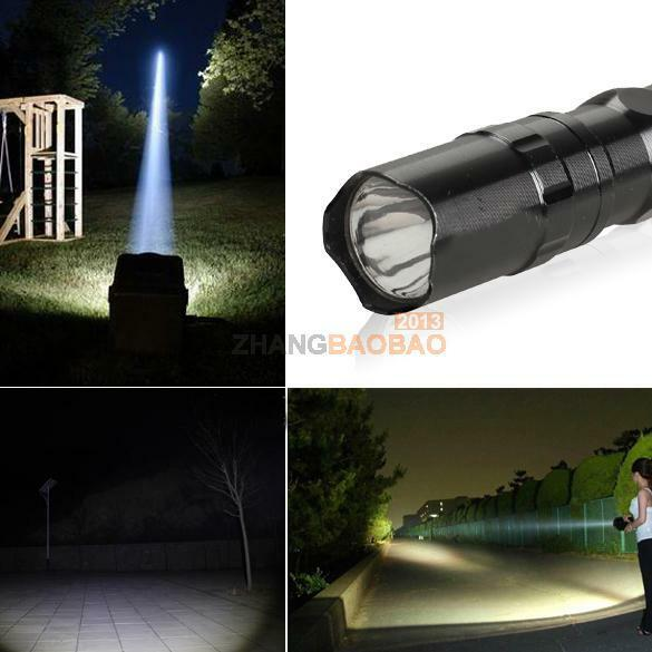 Super bright AA battery 3W Police LED Flashlight Light Lamp Torch W/ Clip Clamp
