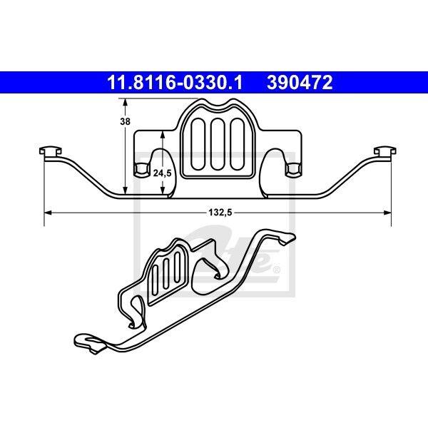 ATE Feder für Bremssattel für BMW E60 E61 E70 F15 F85 E71 E72 F16 F86
