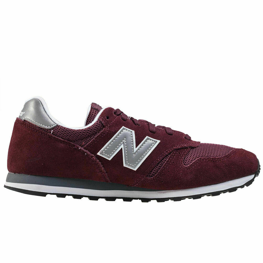 Mens New Balance ML373 BN Trainers in Burgundy & Grey / Silver - UK Size 8