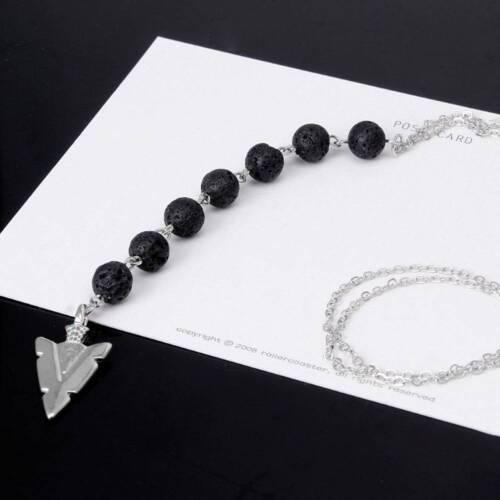 7 Chakra ARROW Lava Rock Stone Collier Femmes Huile Essentielle Diffuseur Bijoux