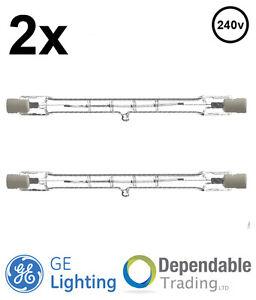 R7s Floodlight GE 64974 2X K11 130w = 150w 118mm 240v Tungsten Halogen IR