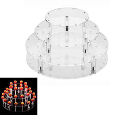 4 Tier Lollipop Cake 35-Holes Display Wedding Party Stand Holder Base Clear DIY