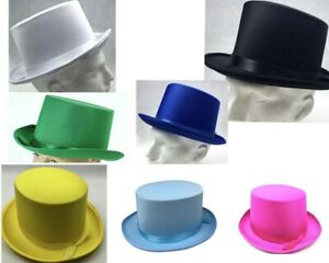 New-Adult-Party-Costume-Top-Hat-Party-Magician-Hat-Wedding-Fedora-Black-7-Colour