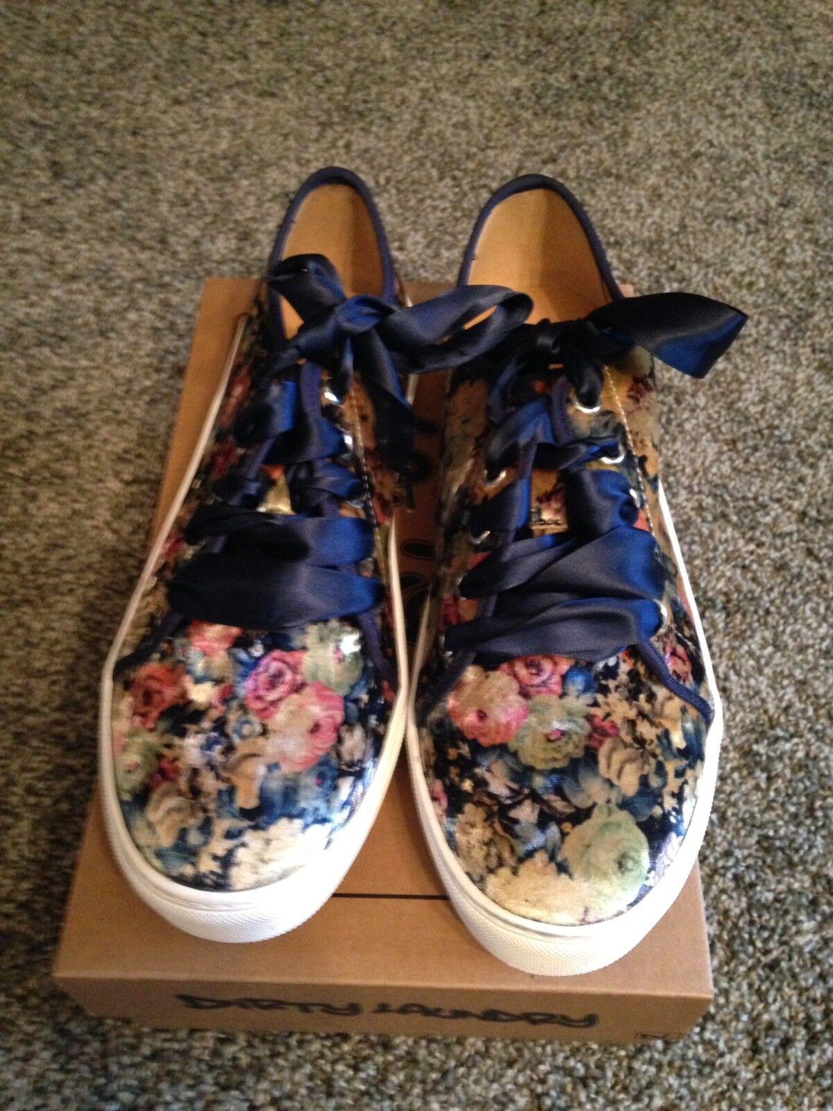 Womens Dirty Laundry Josi Velvet bluee Casual Sneaker Size 10 - New