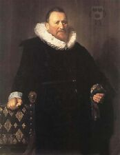 Oil painting male portrait Nicolaes Woutersz van der Meer standing  canvas