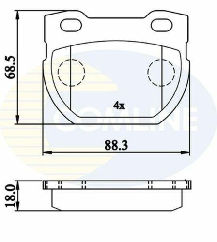 Rear Brake Pads FOR DEFENDER 2.2 2.4 2.5 3.5 3.9 90-/>16 CHOICE2//2 L316 Comline