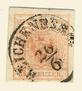 AUTRICHE-AUSTRIA-ca-1850-Mi-3-X-used-034-REICHENBERG-034-Bohm-Czech-LIBEREC