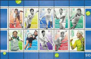 2016-AUSTRALIA-Tennis-Legends-Sheetlet-A-10-MNH