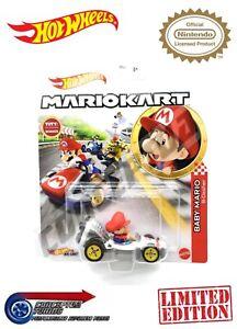 Mario Kart Hot Wheels Toy Cars - Baby Mario B-Dasher - Limited Edition *UK STOCK