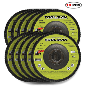 "10pc 4.5/"" x 7//8 Grinding Sanding 60 Grit Flat Disc for DeWalt Makita Bosch"