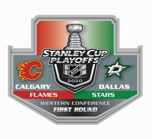 2020 STANLEY CUP NHL PLAYOFFS PIN 1ST FIRST ROUND DALLAS STARS V CALGARY FLAMES