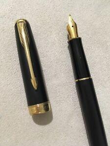 2012 Parker Sonnet Epoxy Matt Black Gold Trim Medium Fountain Pen-france. Lissage De La Circulation Et Des Douleurs D'ArrêT