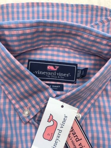Vineyard Vines Youth Shirt Woven Tops Size Large L 14-16 Plaid Button-Down