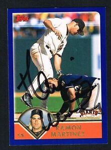 Ramon-Martinez-79-signed-autograph-auto-2003-Topps-Baseball-Trading-Card