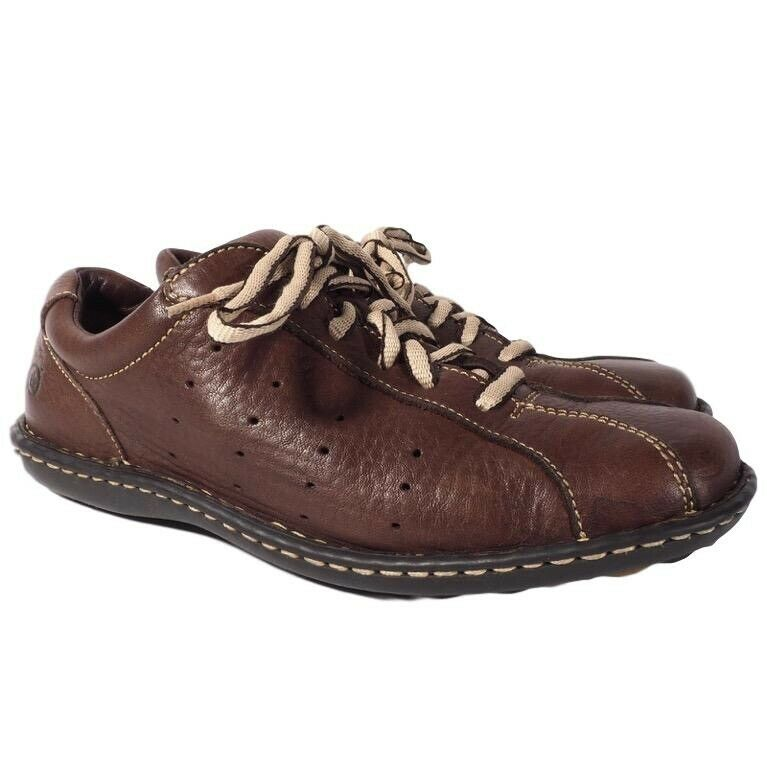 Born Bowling shoes Mens Leather Oxford Flat Low Heel Brown Size 8 1 2  M