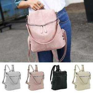 Ladies-Women-Girls-Backpack-Travel-Shoulder-Bag-Leather-Rucksack-Handbag
