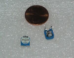 set-of-2-x-50-kOhm-503-Trimpot-Trimmer-Potentiometer-Adjustable-Resistance-50k