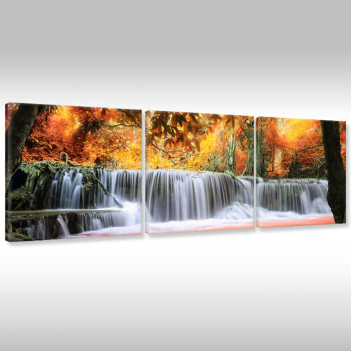 New Canvas Picture Canvas Art Print Natural Landscape Plants Waterfall Cascade