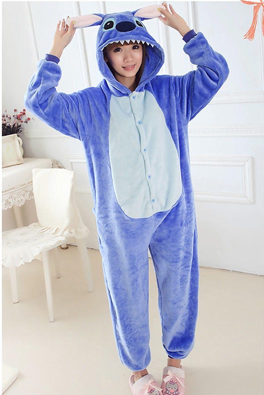 Kigurumi Pijama Unisex Ropa de noche vestido Cosplay Animal Onesie Stitch 3