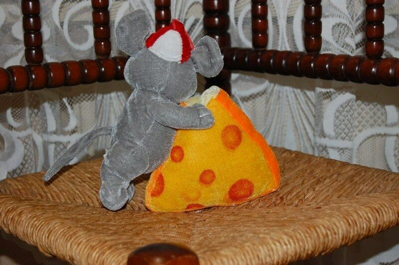 Vintage grau Netherlands Mouse with Cheese Plush Toy Pyramide Netherlands grau d8a731