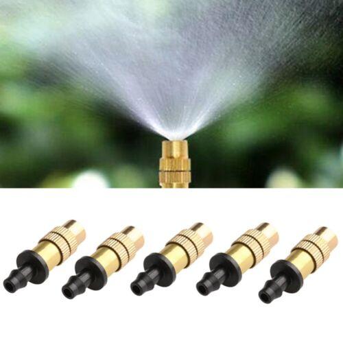 5 Stück verstellbare Sprühdüse Gartenwasserkühlungsgewinde Messing-Sprühsprinkle