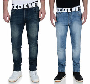 New Men/'s Big Kingsize Boston Vintage Faded Jeans Dark Green Blue Denim Pants