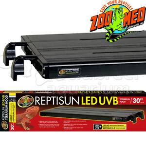 30 Quot Reptisun Led Uvb Terrarium Light Fixture Hood Blue Red Led 30 Inch Ebay