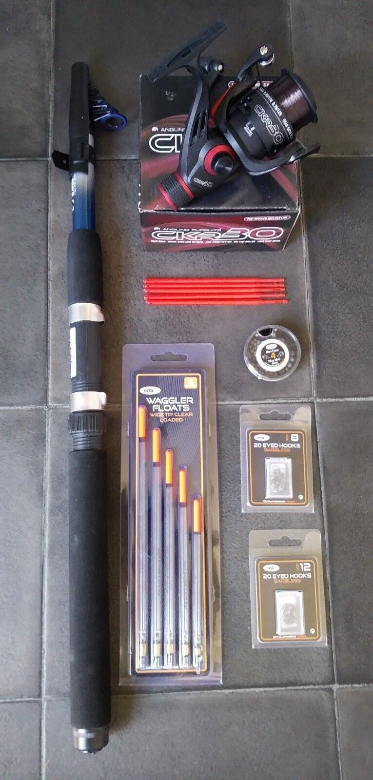 Telescopic 10 ft Rod & Reel ,Complete Set for Coarse Fishing