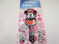 Minnie Mouse Shape D104 Kwikset KW1 House Key Blank  Authentic Disney House Keys