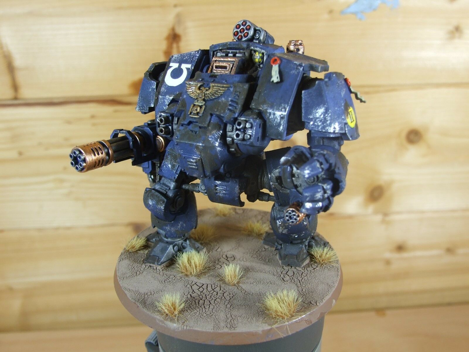 PLASTIC WARHAMMER PRIMARIS REDEMPTOR DREADNOUGHT ULTRAMARINES WELL PAINTED (L)