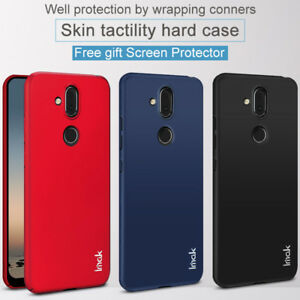new concept 6e016 58c0a Details about Imak For Nokia 8.1 / Nokia X7, Skin Hard Cover Case + Free  Gift Screen Protector