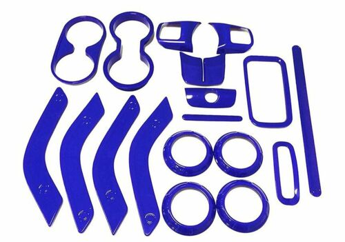 Car 18Pcs Interior Accessories Decoration Trim For Jeep Wrangler Cab 4 Door Blue