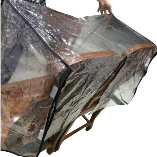 Infant Double Baby Clear Stroller Rain Cover Weather Pram Pushchair Wind Shield