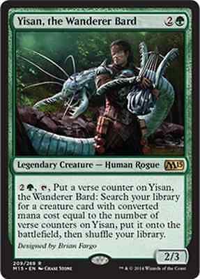 MTG Yisan the Wanderer Bard-Yisan the Bard Walker-m15-Magic