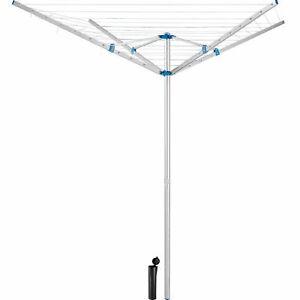 Sechoir-Parapluie-4-Branches-Rotatif-Aluminium-50-m-avec-Cremaillere