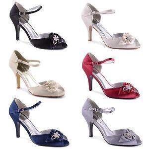 Womens-Ladies-High-Heel-Peep-Toe-Ankle-Strap-Sandals-Bridal-Wedding-Shoes-UK-3-8