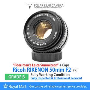 "⭐SERVICED⭐ Ricoh Rikenon 50mm F2 ""Poor-Man Summicron"" Pentax K/KA+ Cap [GRADE B]"