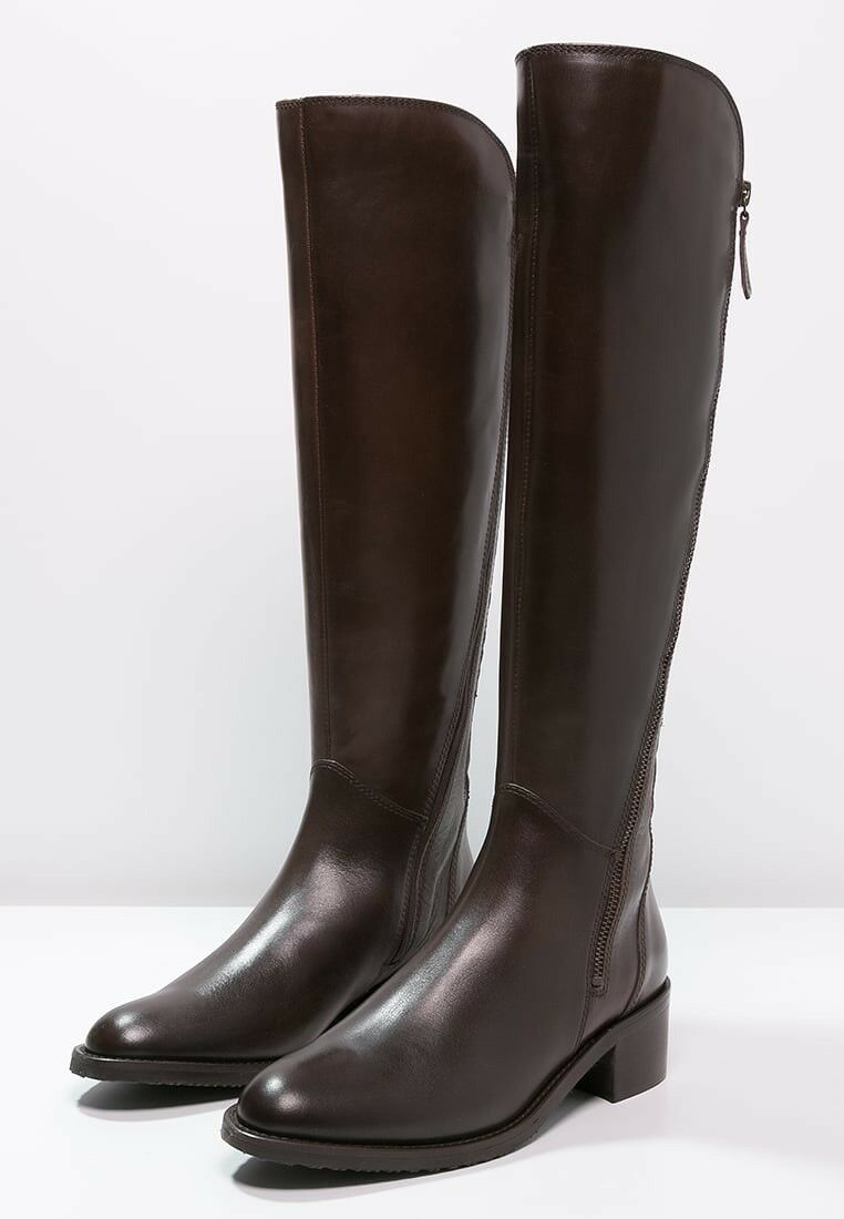 Clarks Ladies Valana Melpink Brown Leather  Long Boots Size EE Wide