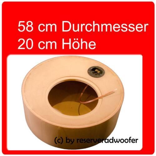 """Reserveradgehäuse für 30cm Größe XL mit 38 Liter Volumen 12/"""" Woofer"""