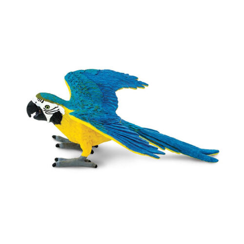 Safari S264029 Blau-Gelber Macaw Token Plastic New !#