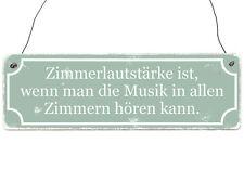 Holzschild Shabby Vintage Dekoschild Türschild ZIMMERLAUTSTÄRKE Geschenk Musiker