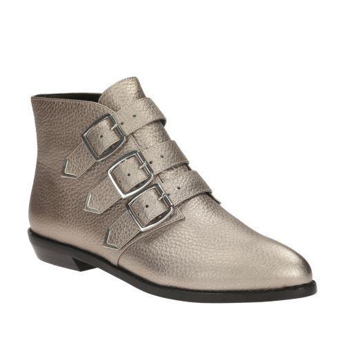 Clarks     Cuero Metálico Stanhope en el tobillo para mujer botas al Tobillo Uk 7  Compra calidad 100% autentica