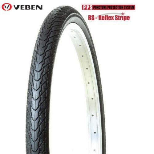VEBEN 26x1.75 Anti Puncture PPS+Reflex Stripe Bicycle Bike Hybrid Tyre
