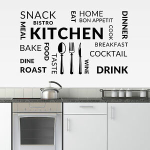 Attractive Image Is Loading Kitchen Vinyl Wall Art Sticker Cafe Restaurant Decal