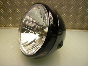 cafe racer scheinwerfer schwarz old school headlight black. Black Bedroom Furniture Sets. Home Design Ideas